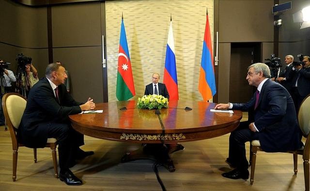 Встреча Владимира Путина с Сержем Саргсяном и Ильхамом Алиевым в 2014