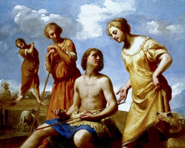 Гвидо Каньяччи. Иаков стругает палочку. 1650