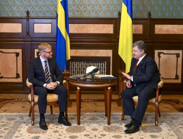 Встреча Мартина Хагстрьома и Петра Порошенко