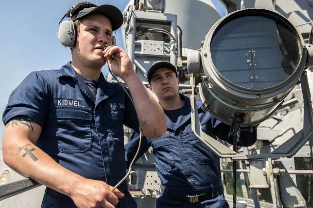 На борту американского эсминца USS Donald Cook