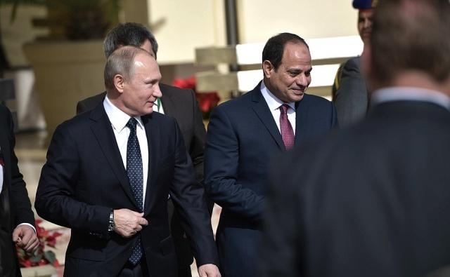 Рабочий визит Владимира Путина в Египет. Каир, 11 декабря 2017 года