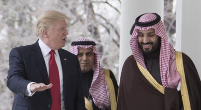 Встреча Дональда Трампа с наследным принцем Саудовской Аравии Мухаммедом ибн Салманом Аль Саудом в Белом доме. США. 2017
