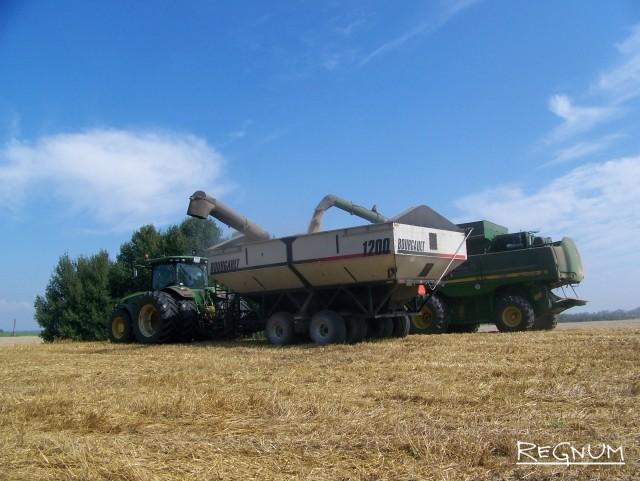 Алтайские аграрии убирают урожай
