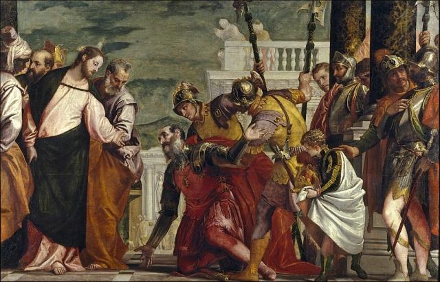 Паоло Веронезе. Исцеление сына капернаумского царедворца. 1571