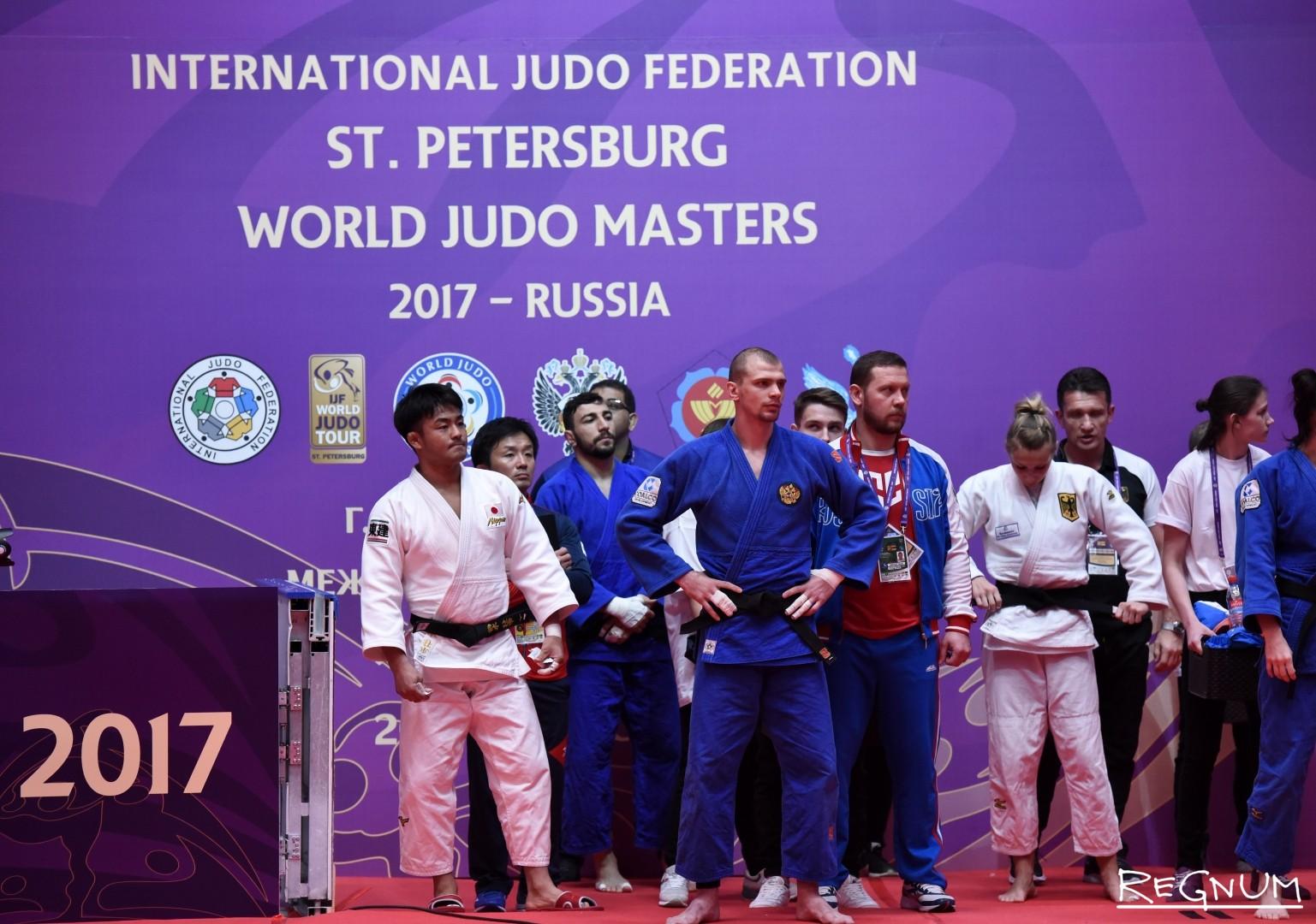 Международный турнир по дзюдо «Мастерс-2017». Спортсмены перед выходом на татами