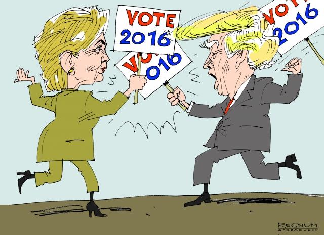 Дуэль Клинтон и Трампа