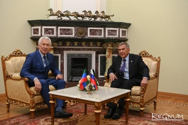 Встреча Рустама Минниханова с Владимиром Васильевым