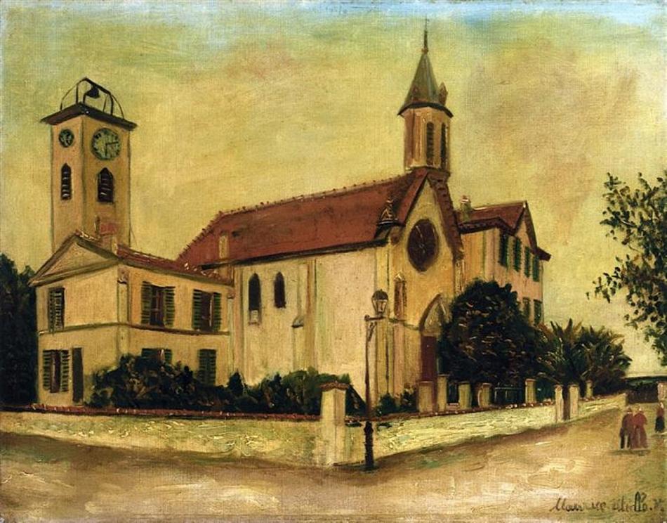 Морис Утрилло. Церковь Болье