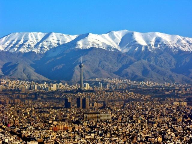 Панорама Тегерана. Иран