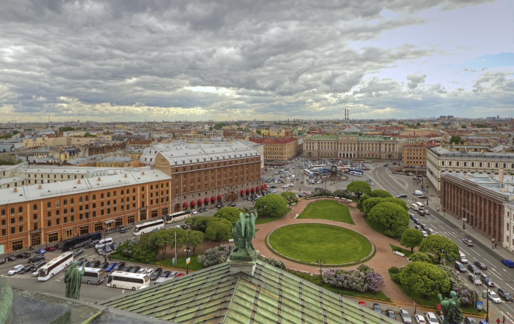 Панорама на центр Санкт-Петербурга с Исаакиевского собора