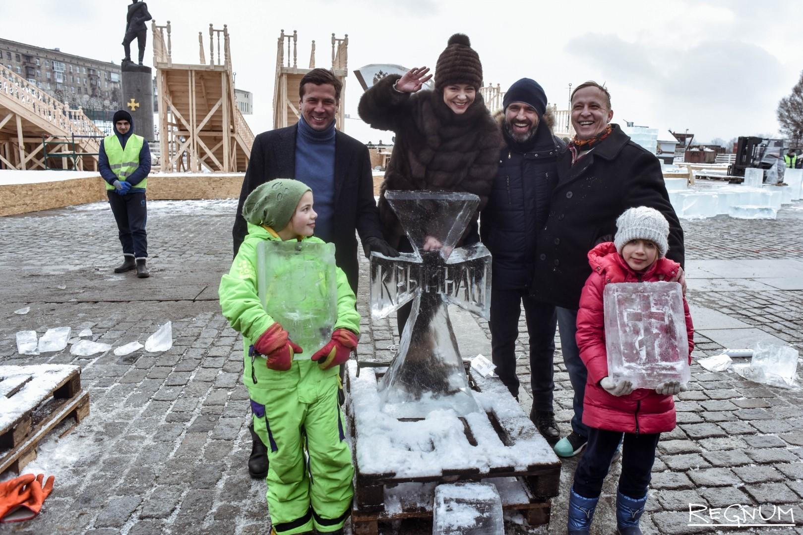 Звезды российского театра и кино на фестивале «Ледовая Москва. В кругу семьи» на Поклонной горе