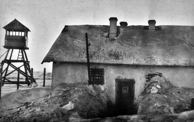 Штрафной изолятор из лагеря в Воркуте. 1945