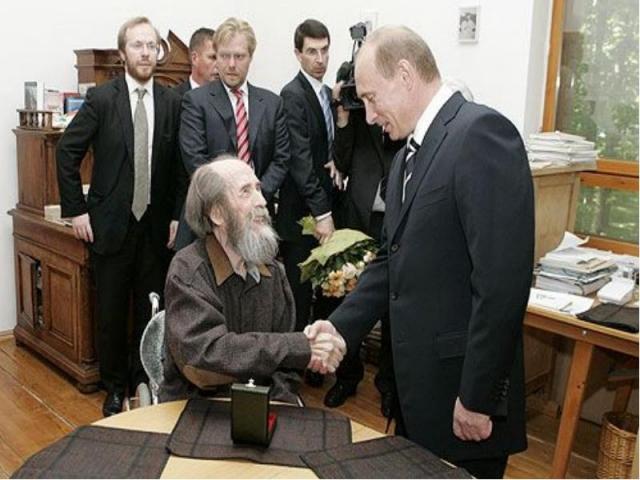 Встреча Владимир Путина с Александром Солженицыным. 2007