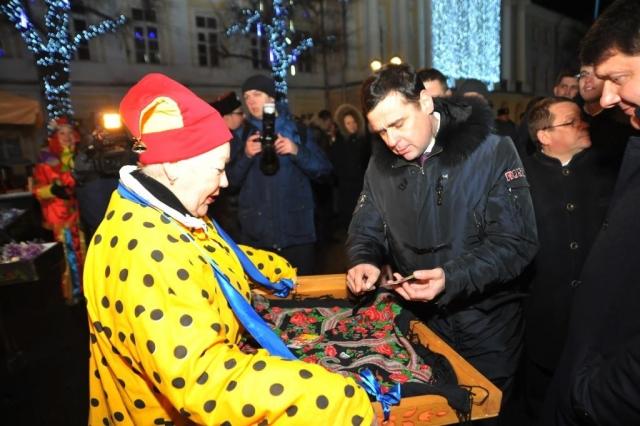 В Ярославле открылась новогодняя ярмарка на центральной площади
