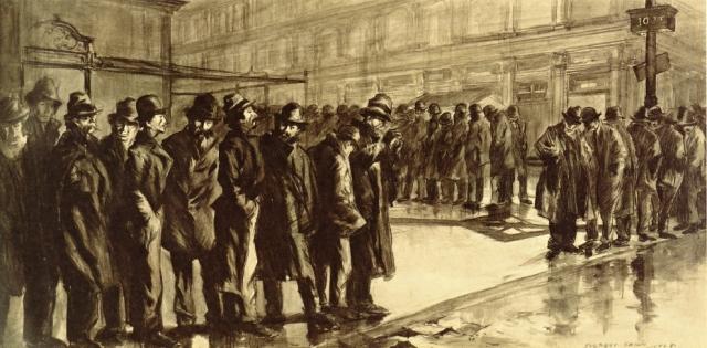 Эверетт Шинн. Безработные. 1908
