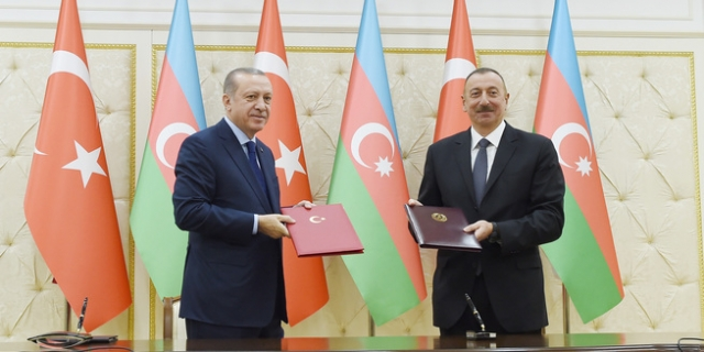 Реджеп Тайип Эрдоган и Ильхам Алиев
