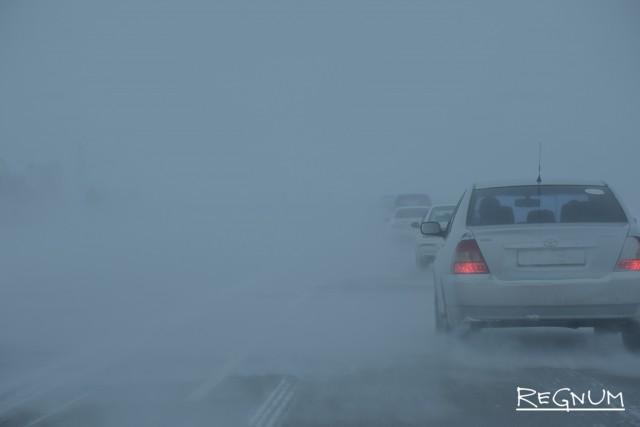 Снежная трасса на Алтае