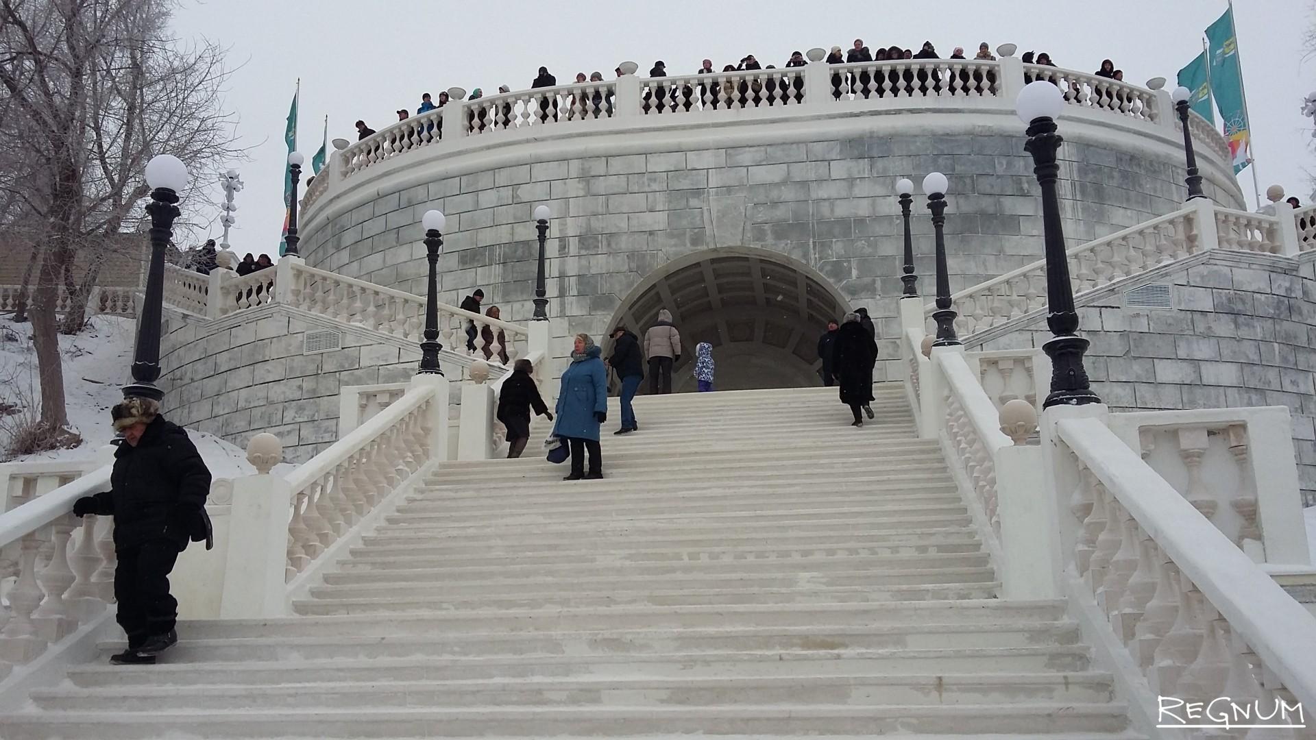 Уникальный спуск к Уралу после реконструкции