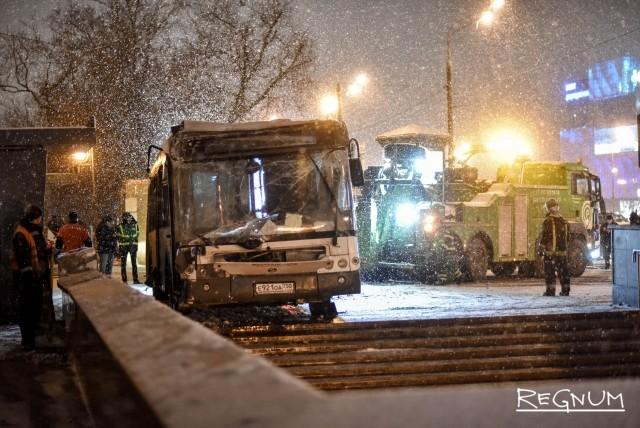 Эвакуация автобуса