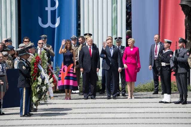 Визит Дональда Трампа в Варшаву. Июль 2017 года