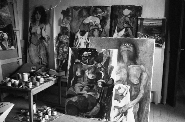 В мастерской Гуттузо. 1961