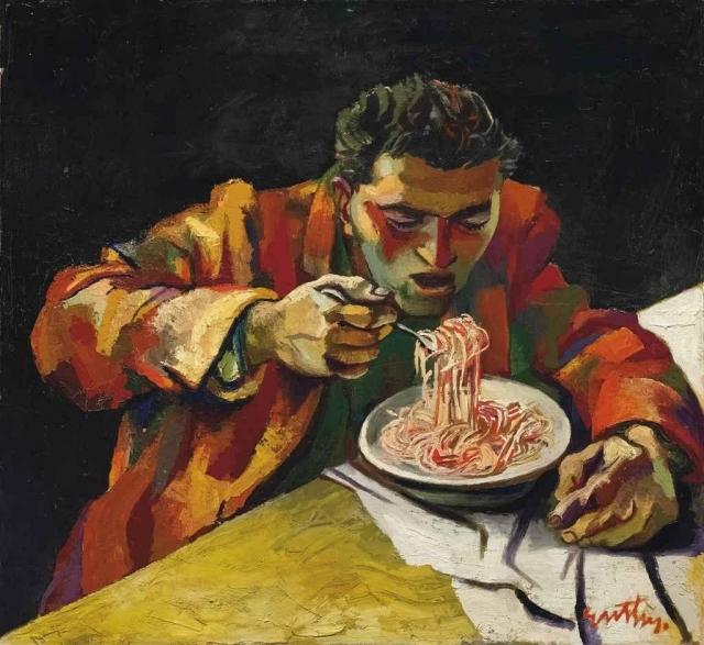 Человек, который ест спагетти. 1956