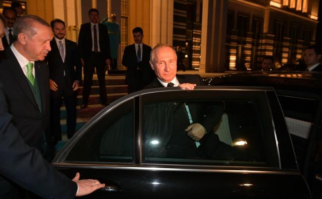 Отъезд Владимира Путина из резиденции президента Турецкой Республики. 11 декабря 2017 года