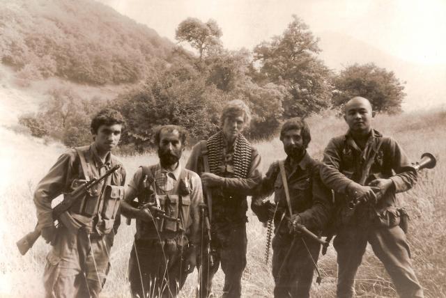 Бойцы 8-й стрелковой роты Степанакертского Полка Сил Самообороны Нагорно-Карабахской Республики