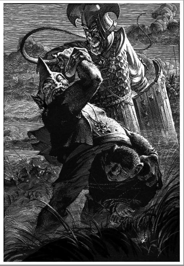 Иллюстрация к эпопее Дж. Р. Р. Толкина «Властелин колец»