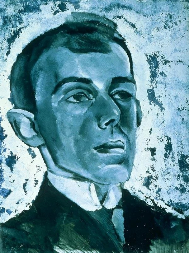 Лев Бруни. Портрет Осипа Мандельштама. 1915-1916