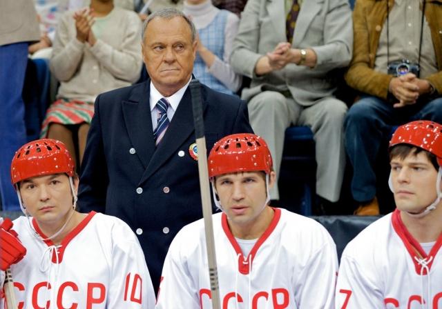 Тренер и игроки сборной СССР по хоккею