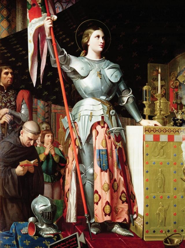 Жан Огюст Доминик Энгр. Жанна д'Арк на коронации Карла VII. 1854
