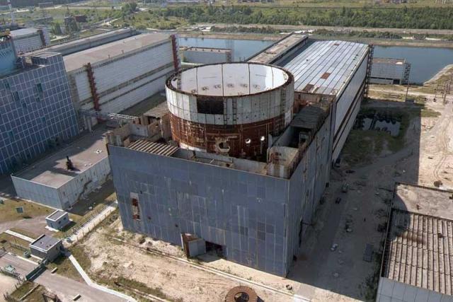 Строительная площадка третьего энергоблока Хмельницкой АЭС