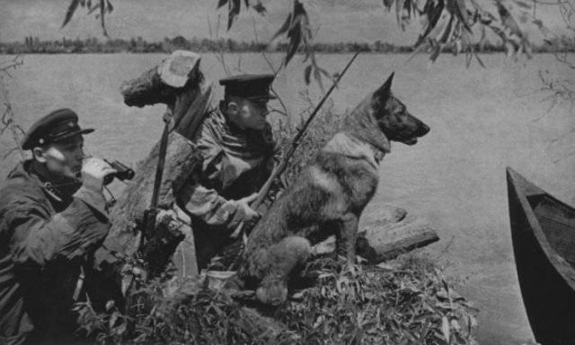 Дозор советских пограничников. 1941