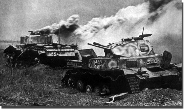 Подбитые танки вермахта — Pz.II и Pz.III