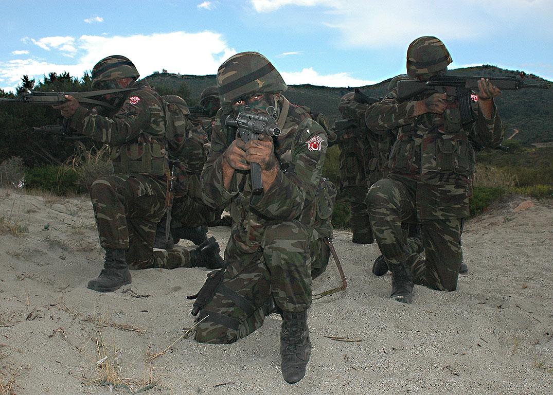 Турецкие военные во время учений