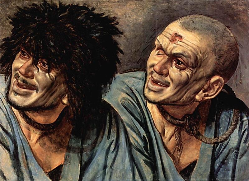 А.А.Иванов. Две головы раба. Этюд к картине «Явление Мессии». Фрагмент. 1846
