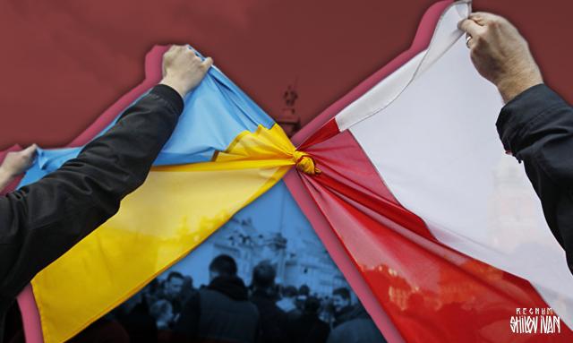 Евроинтеграция: украинцев в Польше пометили желто-синим
