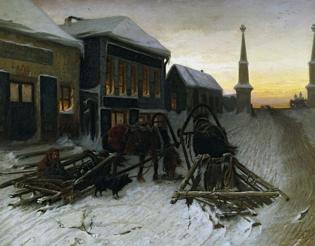 Василий Перов. Последний кабак у заставы. 1868