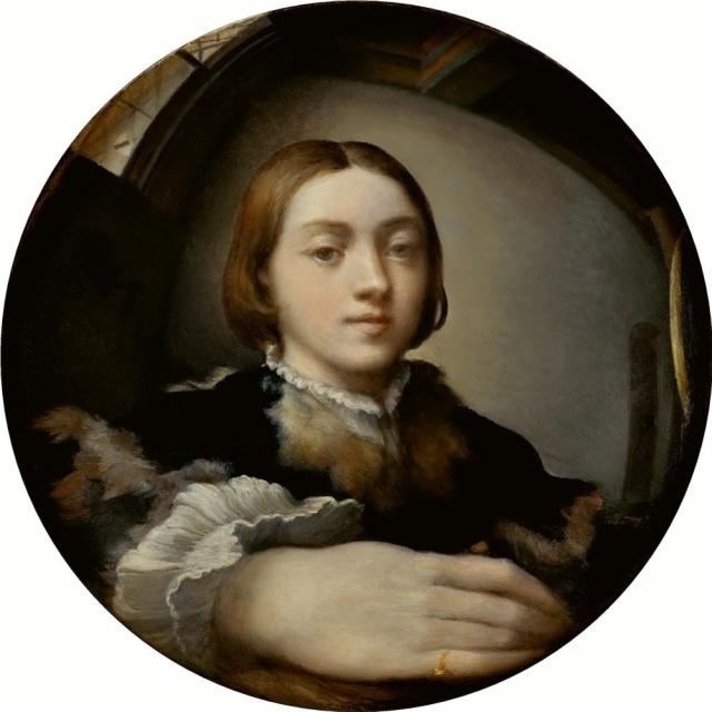 Франческо Пармиджанино. Автопортрет в выпуклом зеркале. 1524