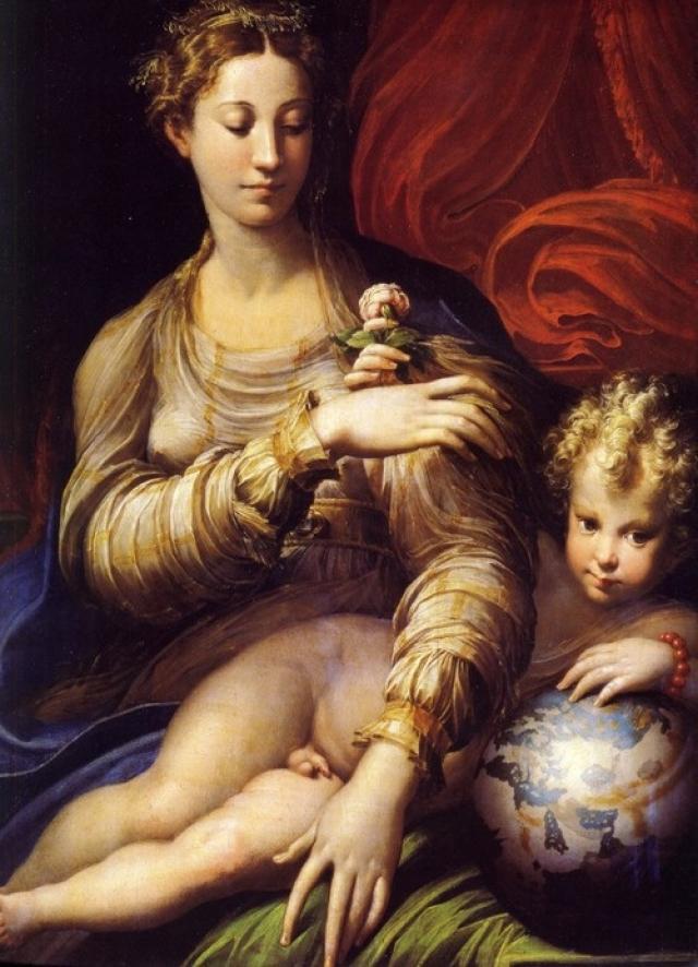 Франческо Пармиджанино. Мадонна с розой. 1530