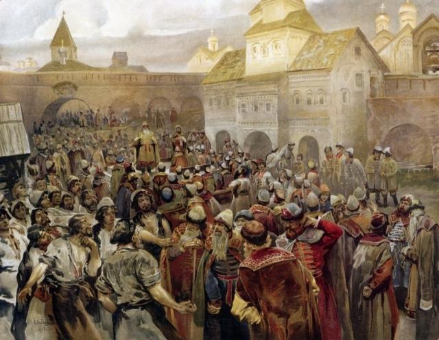 Клавдий Лебедев. Вече в Новгороде. 1907