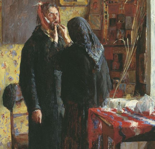 Василий Мешков. Зубоврачевание (фрагмент). 1891