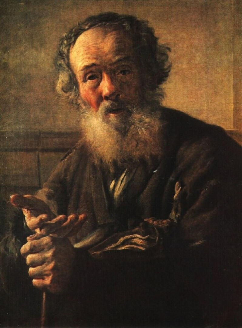 Василий Тропинин. Нищий старик. 1823