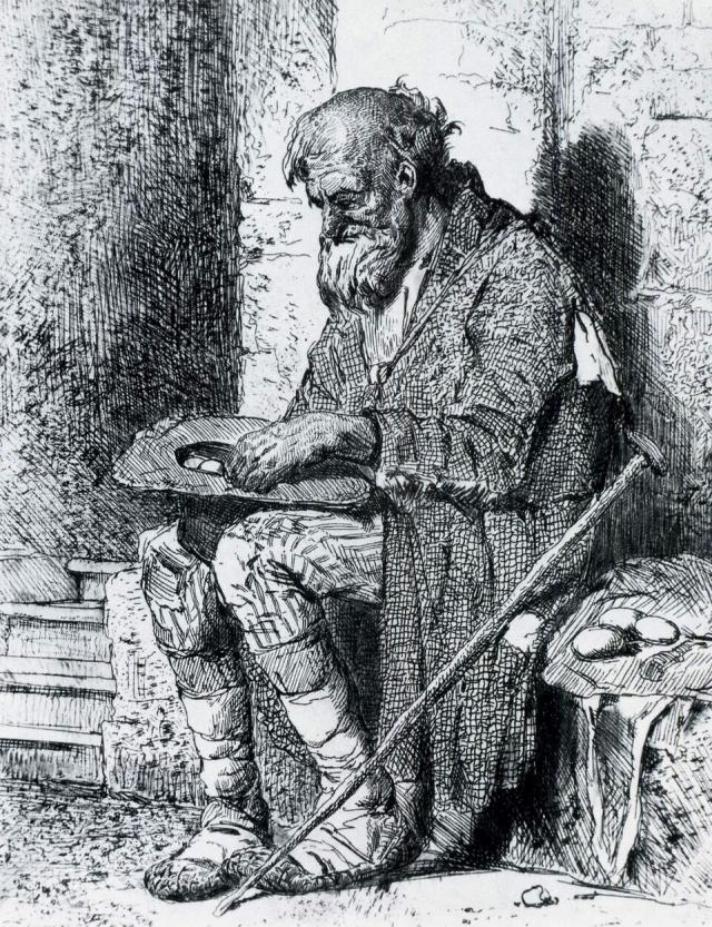 Виктор Васнецов. Старик нищий. 1874