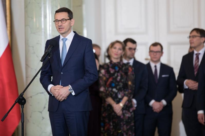Премьер Моравецкий представляет новые лица