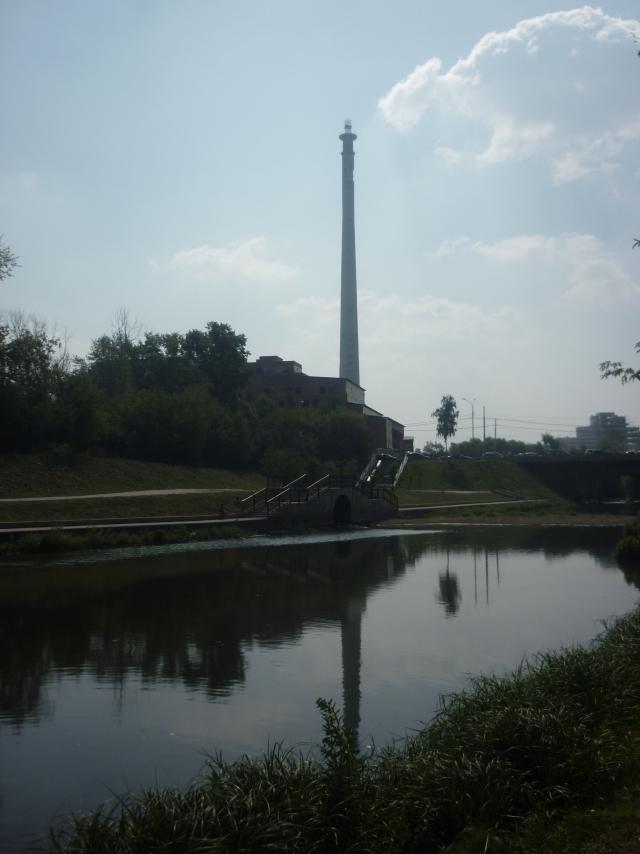 Телебашня в Екатеринбурге. Вид с реки