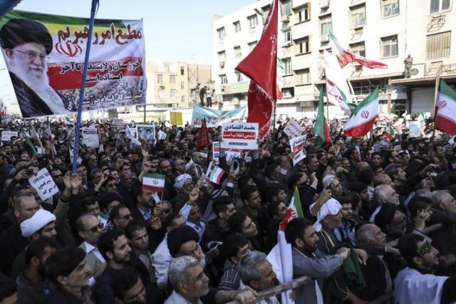Проправительственная демонстрация в Тегеране