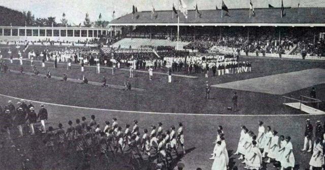 Церемония открытия Олимпийских игр 1920 года в Антверпене