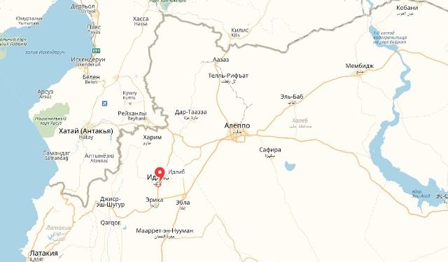 Карта Северной Сирии